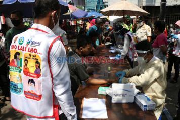 Pelanggar Protokol Kesehatan di Semarang Jalani Rapid Test