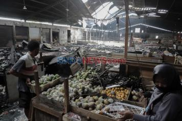 Kebakaran Pasar Wage Purwokerto Hanguskan Kios dan Lapak Pedagang