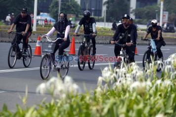 Perpanjangan PSBB Ketat, Kawasan Sudirman Sepi Pesepeda