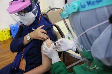 Pegawai, Tahanan Hingga Jurnalis Jalani Vaksinasi Covid-19 di KPK