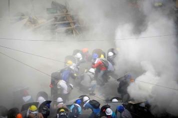 Polisi Myanmar Bentrok dengan Massa Anti Kudeta, 18 Orang Tewas