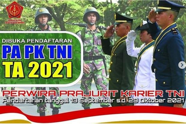 TNI Buka Rekrutmen Calon Prajurit Perwira Karier 2021 untuk Lulusan S1 dan D4