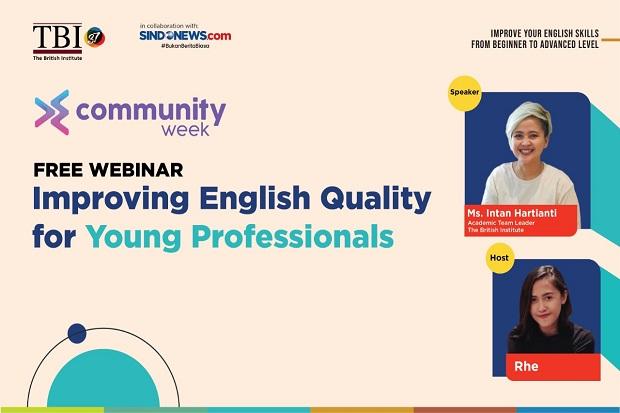 TBI dan SINDOnews Gelar Webinar Pentingnya Bahasa Inggris bagi Profesional Muda