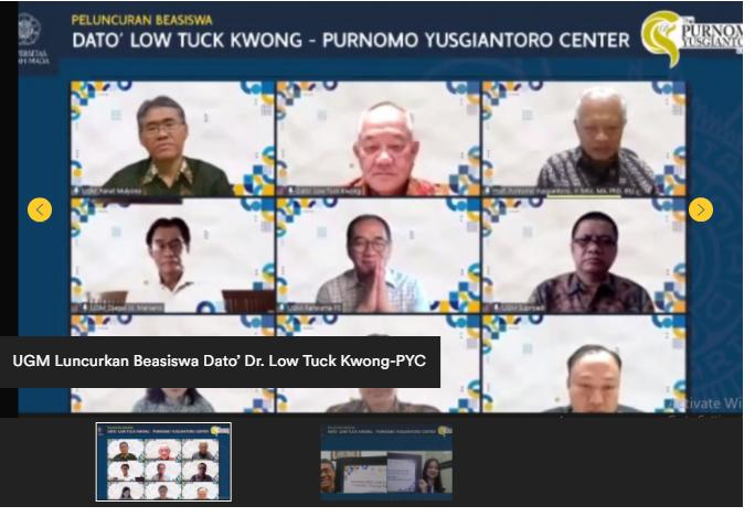 UGM Luncurkan Beasiswa Dato Dr Low Tuck Kwong
