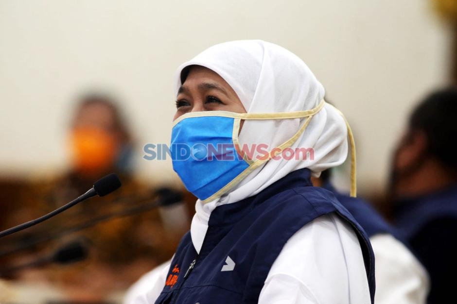 Lewat Video Conference, Gubernur Khofifah Apresiasi Kartini Satgas Covid-19-2
