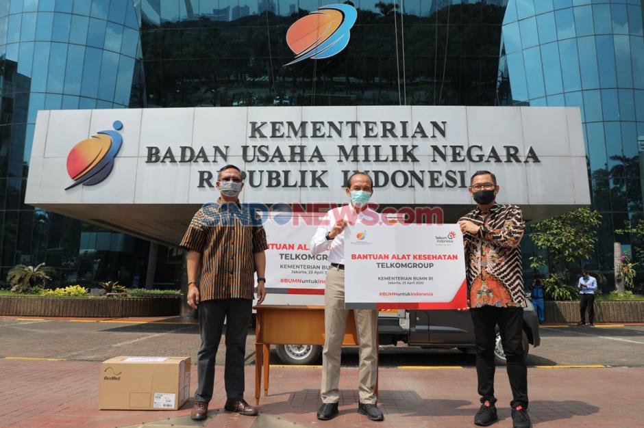 TelkomGroup Serahkan 44 Ventilator kepada Yayasan BUMN Untuk Indonesia-0