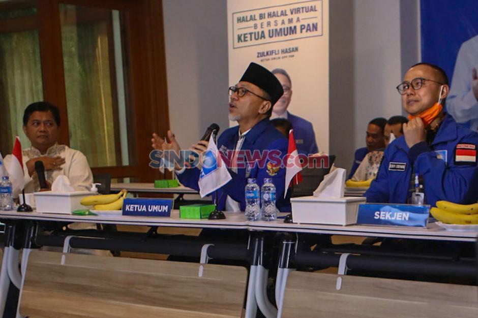 PAN Gelar Halal Bihalal Secara Virtual-1