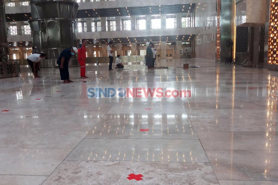 Terapkan Protokol Kesehatan, Masjid Istiqlal Siap Sambut New Normal-1