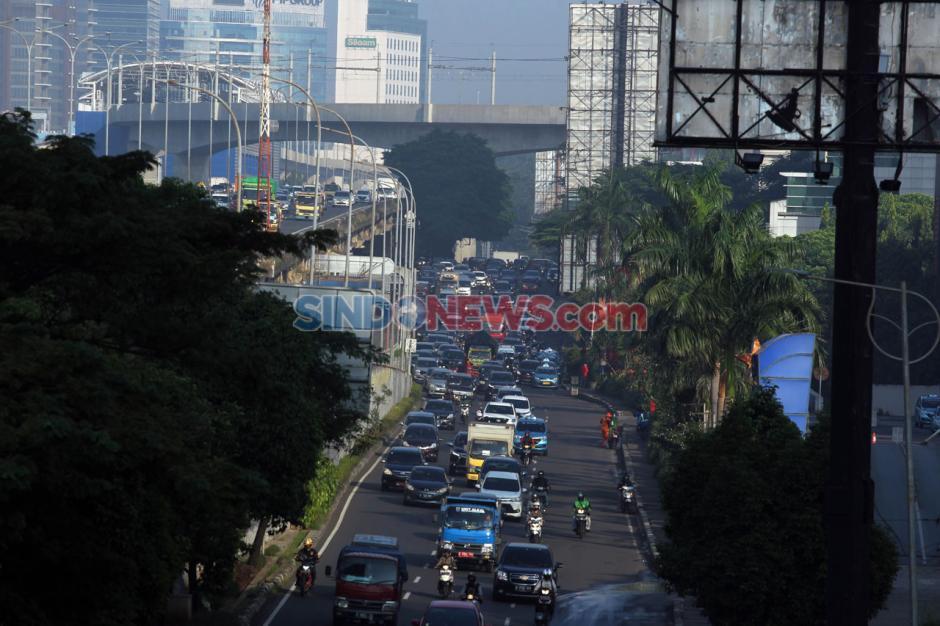 Lalu Lintas Jakarta Kembali Ramai Jelang PSBB Berakhir-6