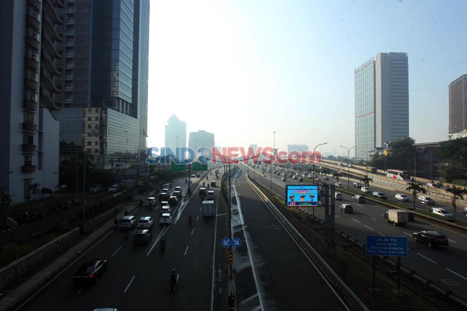 Lalu Lintas Jakarta Kembali Ramai Jelang PSBB Berakhir-1