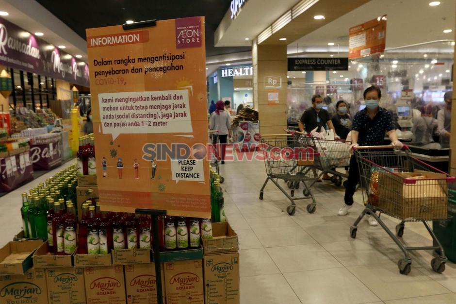 AEON Supermarket Tangsel Terapakan Tatanan Normal Baru-1
