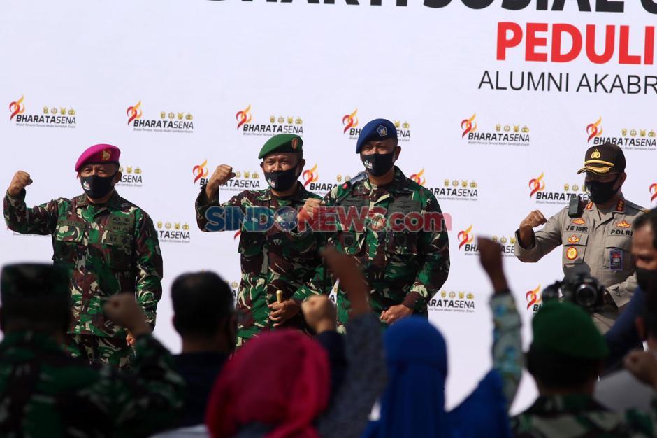 Alumni Akabri 96 Bharatasena Bagikan Sembako Kepada Warga Terdampak Covid-19-8