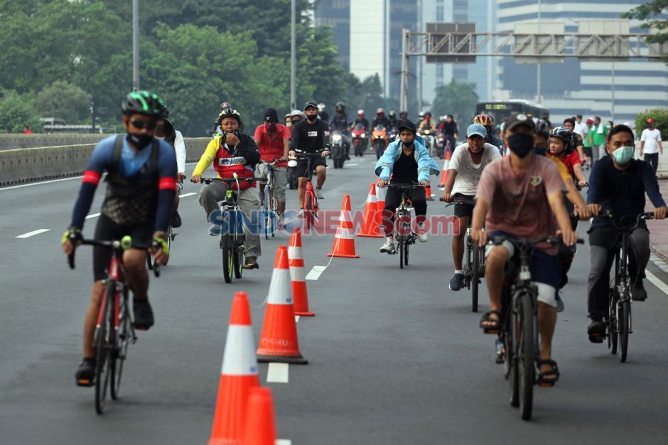 CFD Ditutup Sementara, Pesepeda Masih Ramai di Sepanjang Sudirman-Thamrin-3