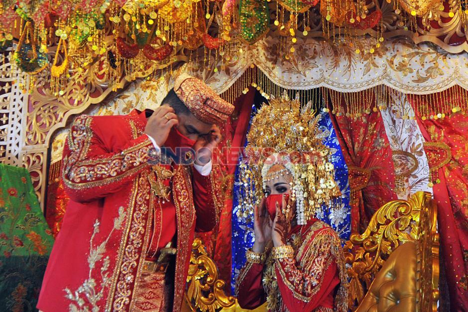 Resepsi Pernikahan Adat Minang dengan Protokol Kesehatan-2