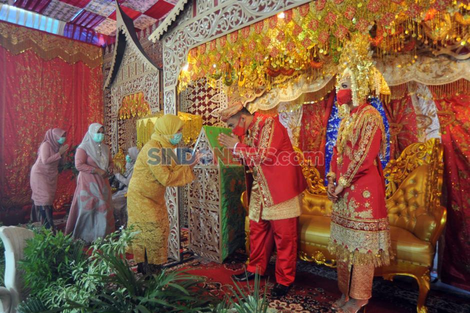 Resepsi Pernikahan Adat Minang dengan Protokol Kesehatan-0