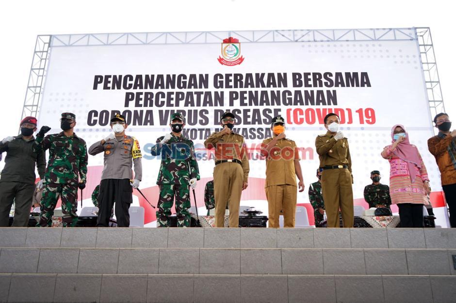 Gubernur Nurdin Abdullah Hadiri Pencanangan Gerakan Bersama Penanganan COVID-19 Makassar-4