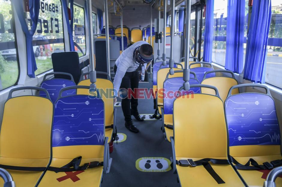 Transjakarta Uji Coba Dua Bus Listrik Rute Balai Kota - Blok M-0