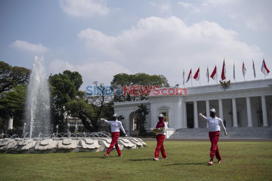 Simulasi Pengibaran Bendera HUT Ke-75 RI di Istana Merdeka-1