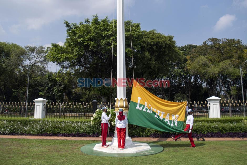 Simulasi Pengibaran Bendera HUT Ke-75 RI di Istana Merdeka-3