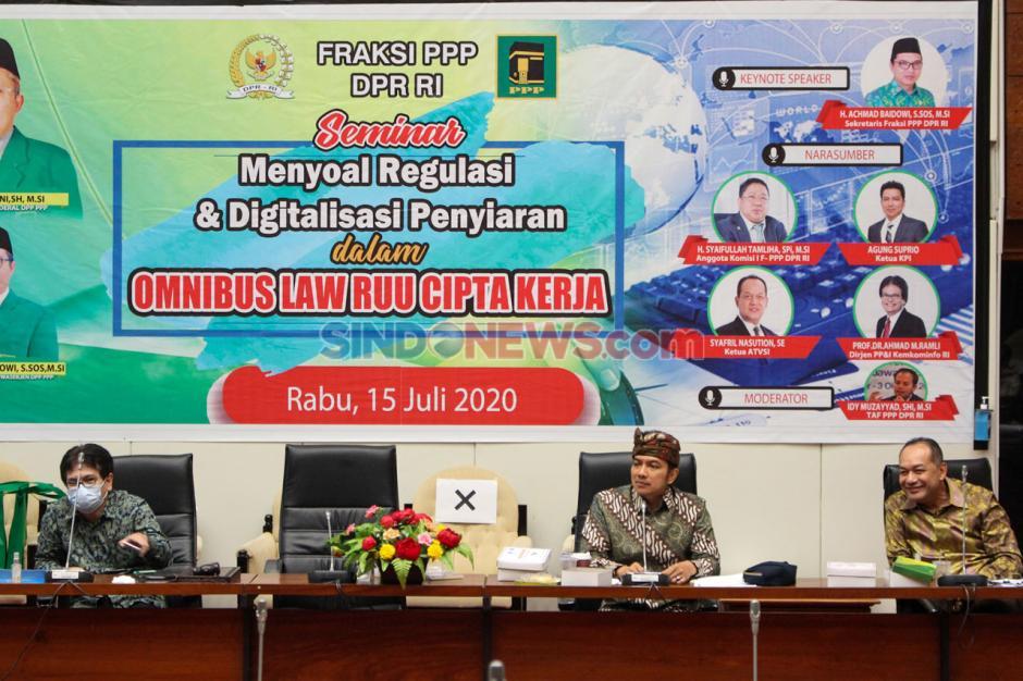 Seminar Fraksi PPP: Regulasi dan Digitalisasi Penyiaran dalam Omnibus Law RUU Cipta Kerja-3