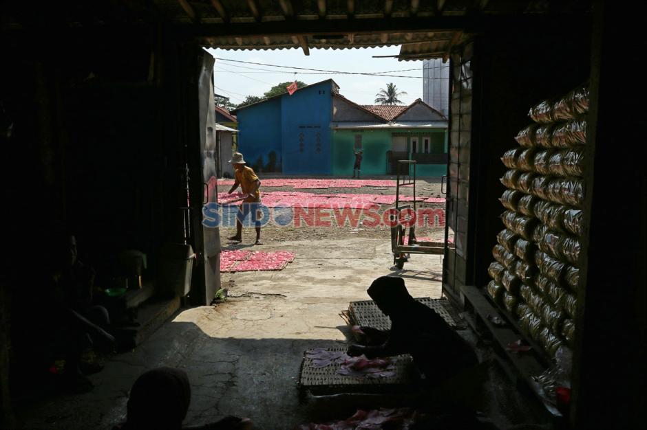Produksi Kerupuk Merah Bogor Penuhi Pasar Jabodetabek-4