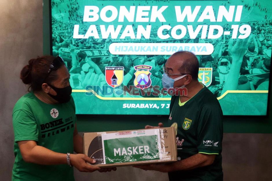 Kolaborasi UMSurabaya-Persebaya Surabaya Dukung Tri Wani Lawan Covid-19-1