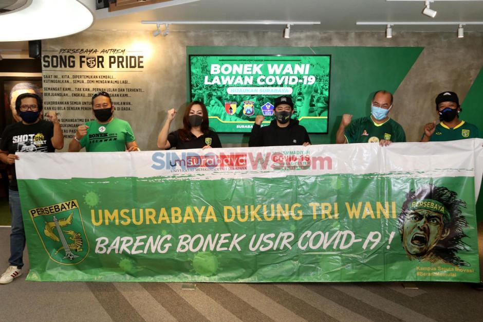 Kolaborasi UMSurabaya-Persebaya Surabaya Dukung Tri Wani Lawan Covid-19-4