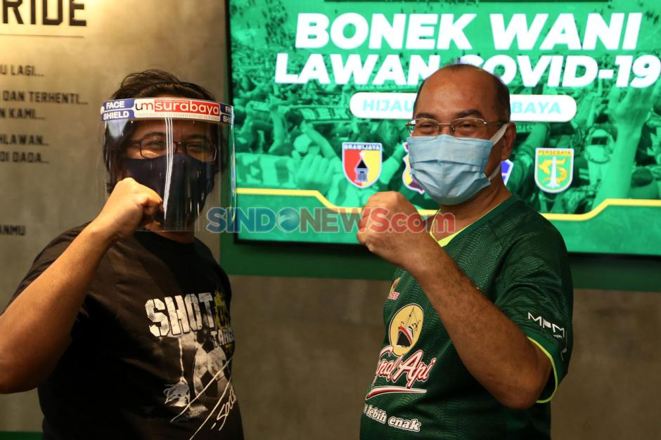 Kolaborasi UMSurabaya-Persebaya Surabaya Dukung Tri Wani Lawan Covid-19-0