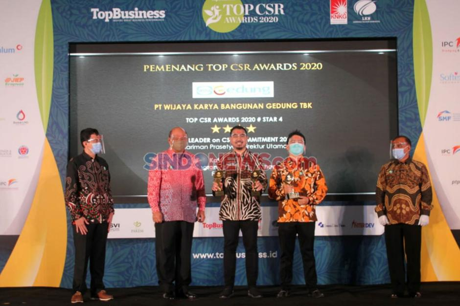 WEGE Sabet 3 Penghargaan Top CSR Award 2020-2