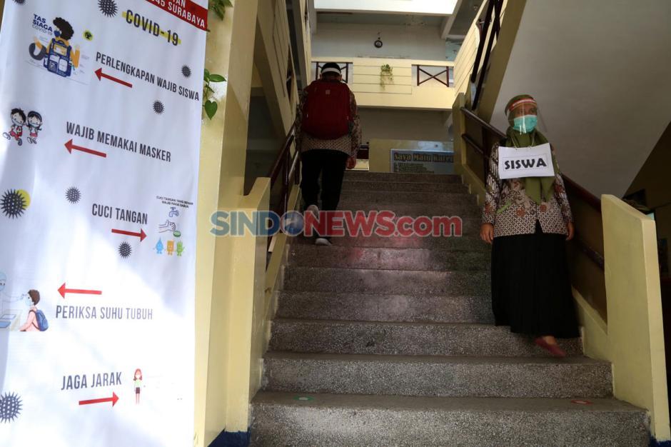 SMP 17 Agustus 1945 Surabaya Gelar Simulasi Protokol Kesehatan Sekolah-1