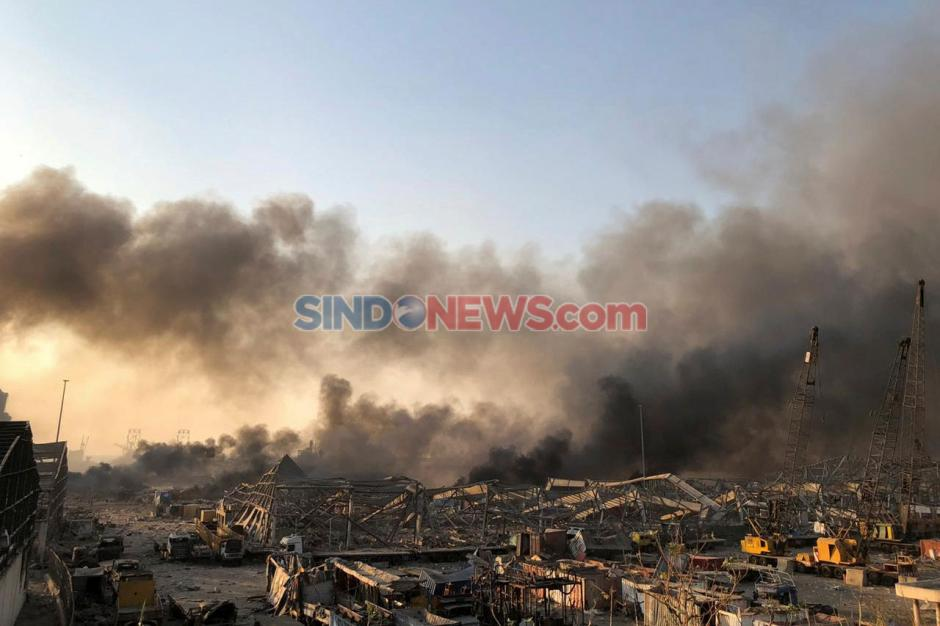 Inilah Kerusakan yang Disebabkan Ledakan Dahsyat di Beirut-1