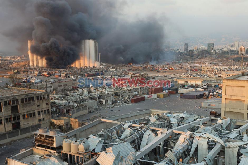 Inilah Kerusakan yang Disebabkan Ledakan Dahsyat di Beirut-0