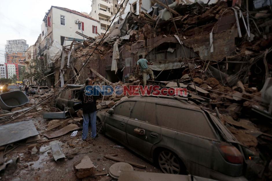 Kota Beirut Luluh Lantah Akibat Ledakan Dahsyat-0