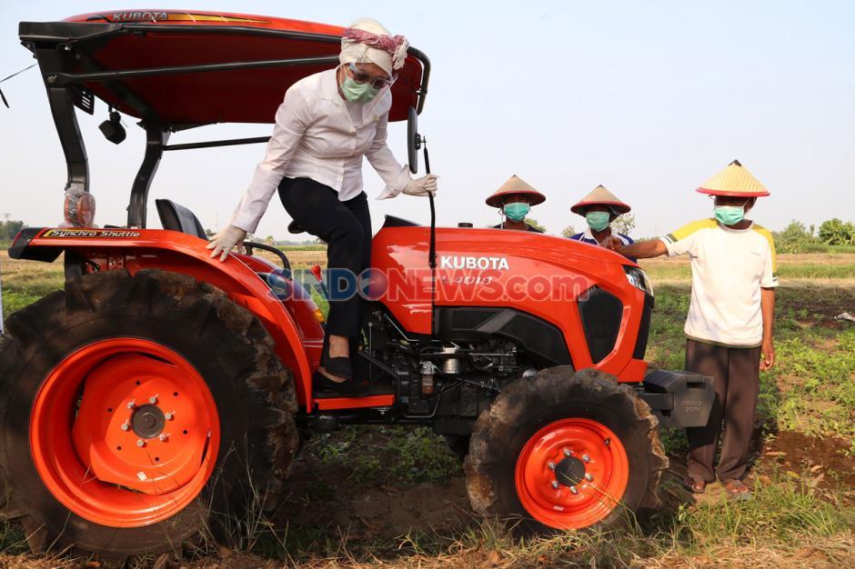 Dukung Produksi Pertanian, Indah Kurnia Serahkan Traktor Sawah Pada Petani di Sidoarjo-3