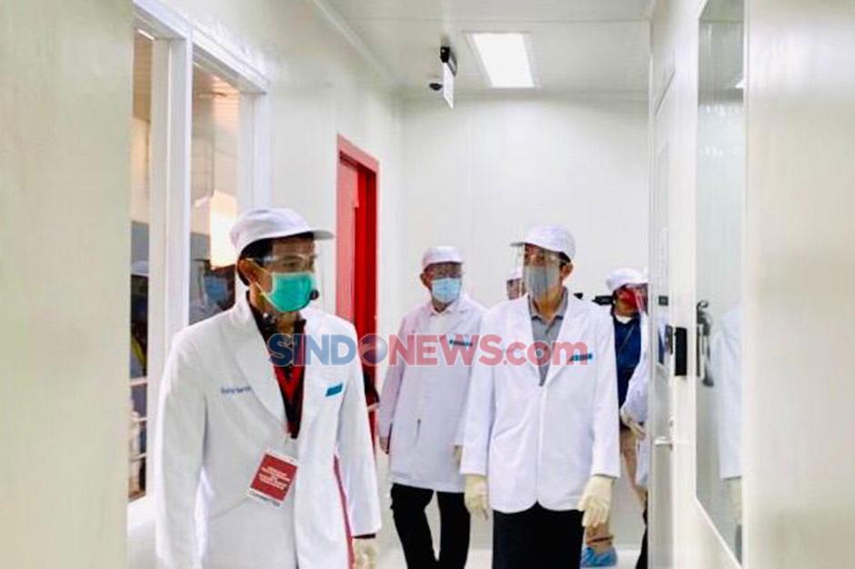 Presiden Jokowi Saksikan Penyuntikan Perdana Uji Klinis Vaksin Covid-19-3