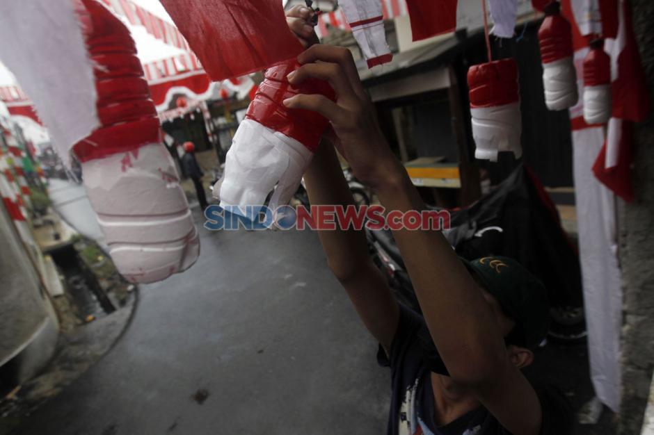 Dihelat Sederhana, Warga Gang Bidan kebayoran Lama Sambut HUT RI ke-75-6