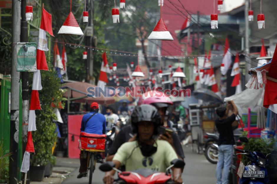 Dihelat Sederhana, Warga Gang Bidan kebayoran Lama Sambut HUT RI ke-75-5