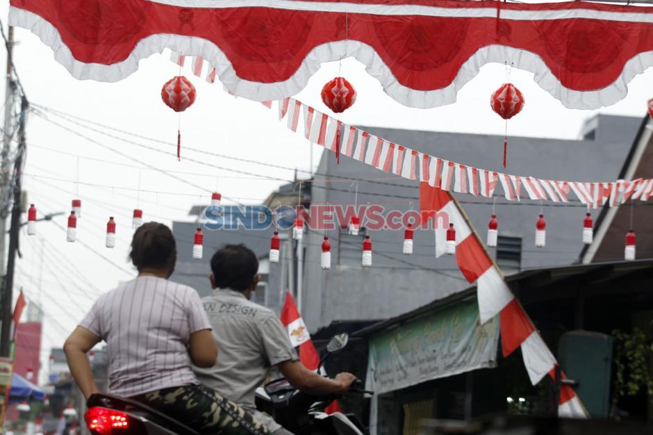 Dihelat Sederhana, Warga Gang Bidan kebayoran Lama Sambut HUT RI ke-75-1