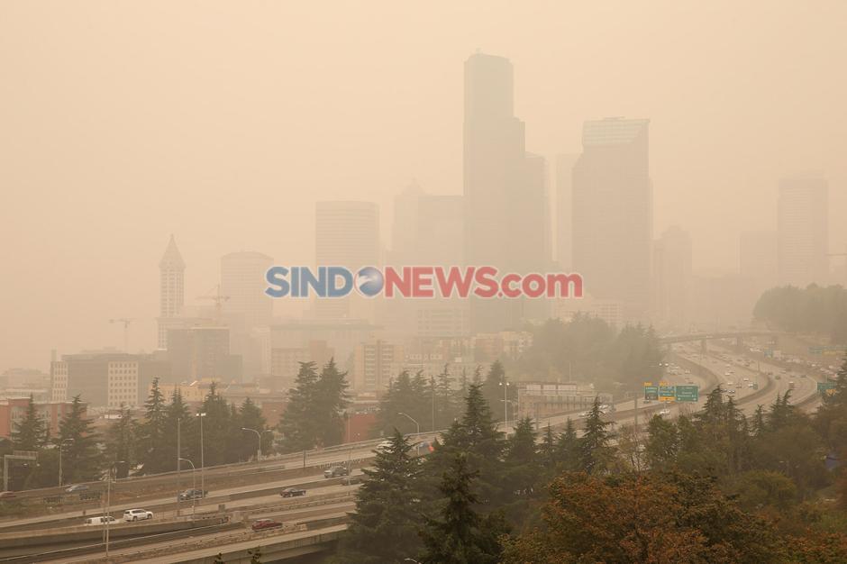 Washington diselimuti Kabut Asap Akibat Kebakaran Hutan-4