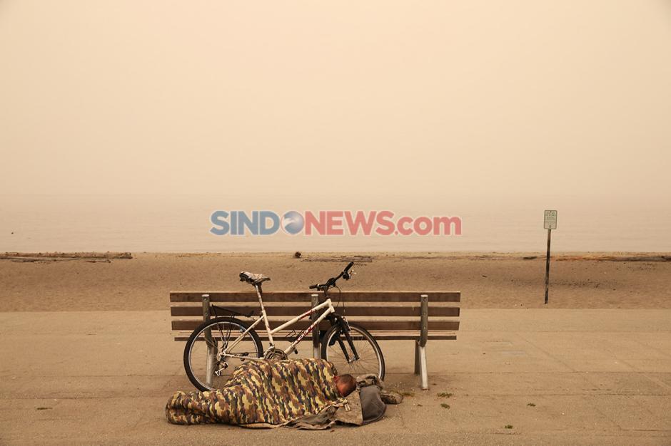 Washington diselimuti Kabut Asap Akibat Kebakaran Hutan-0