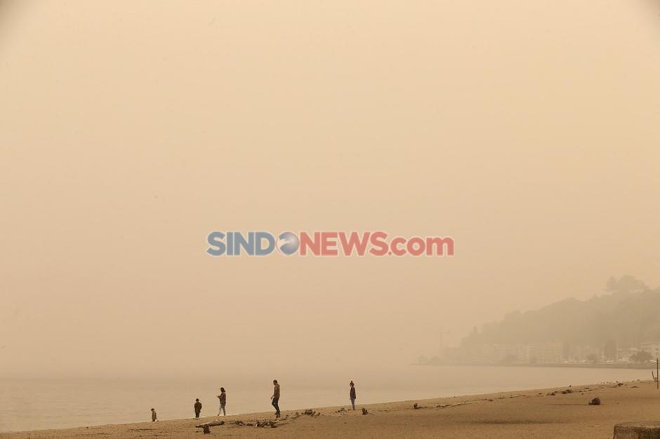 Washington diselimuti Kabut Asap Akibat Kebakaran Hutan-3