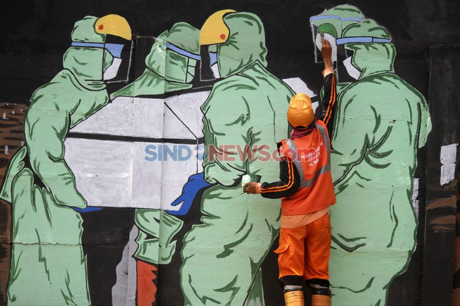 Melawan Corona Lewat Deretan Seni Mural-2