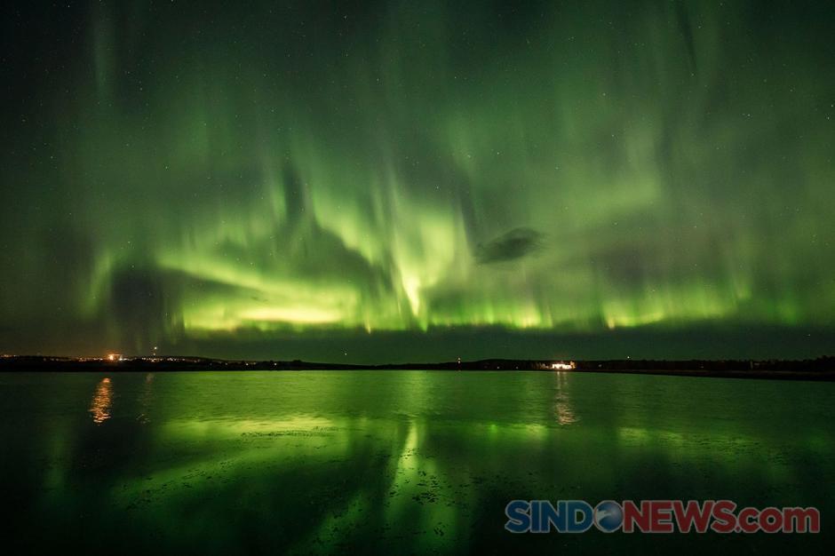 Indahnya Penampakan Fenomena Aurora di Langit Finlandia-2