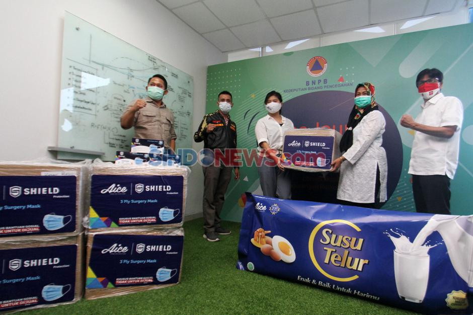 Dukung Pencegahan Covid-19, Aice-GP Ansor Donasi Masker-2