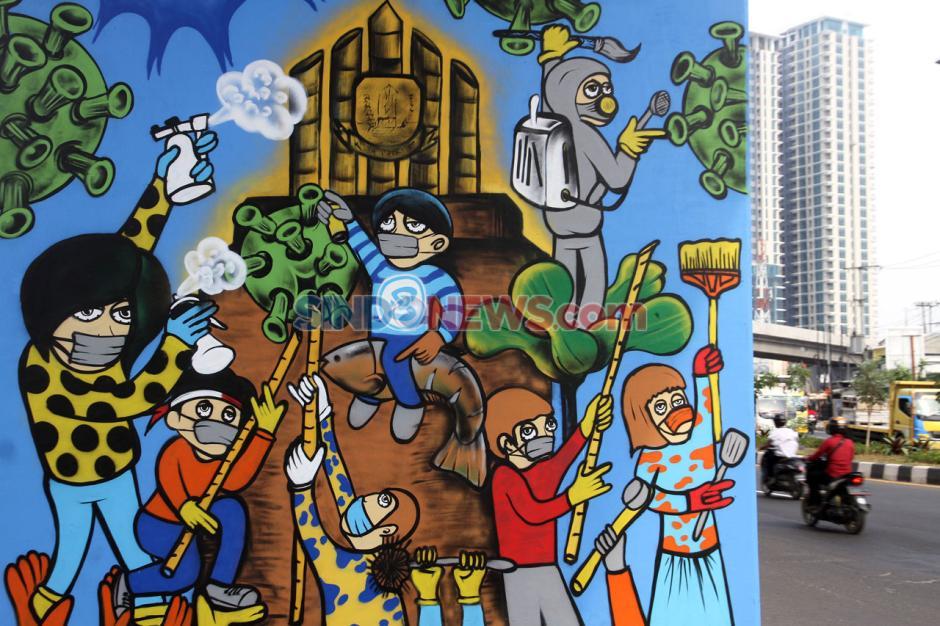 Mural Bekasi Lawan Covid-19 Ingatkan Warga Pentingnya Protokol Kesehatan-2