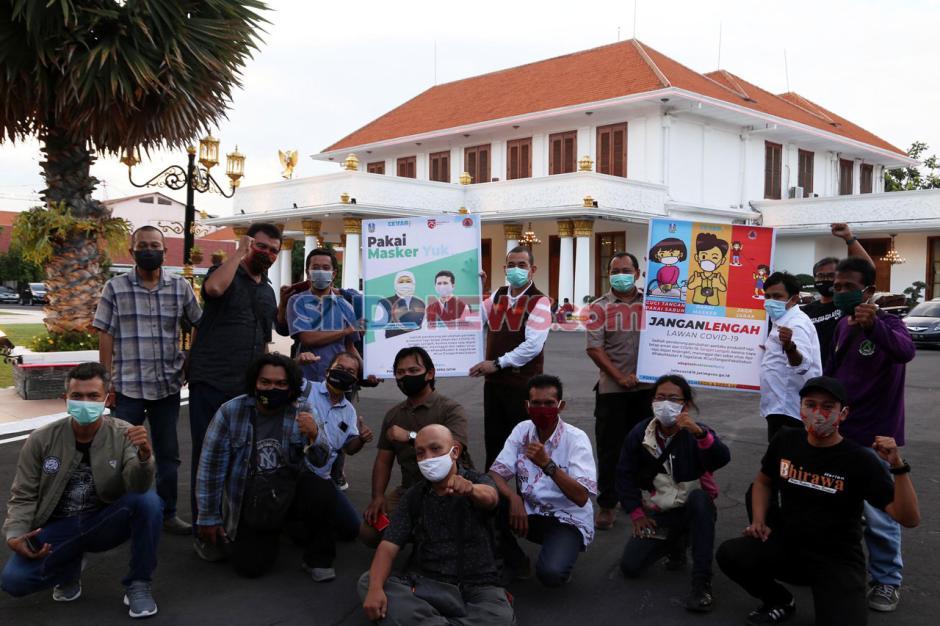 Wartawan dan BPBD Jatim Sosialisasikan Protokol Kesehatan Covid-19-3