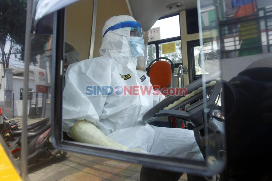 Alih Fungsi Bus Sekolah untuk Evakuasi Pasien Covid-19-9