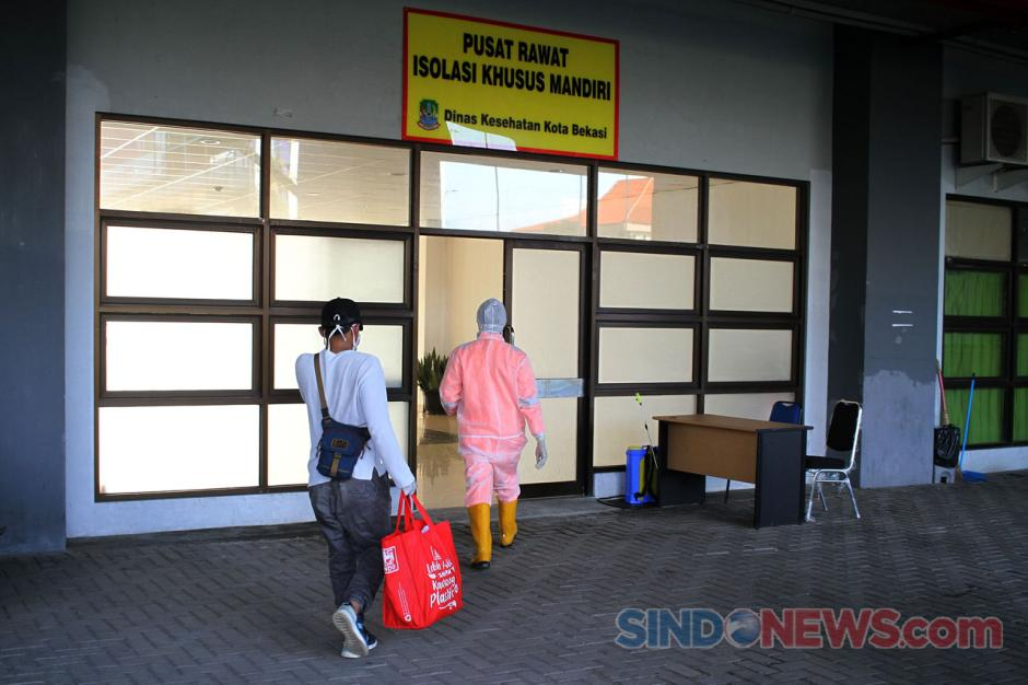 15 Pasien OTG Covid-19 Jalani Isolasi Mandiri di Stadion Patriot Chandrabhaga-6
