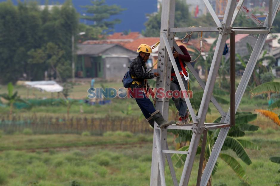 Pengecekan Sutet Baru di Kawasan Tangerang-2