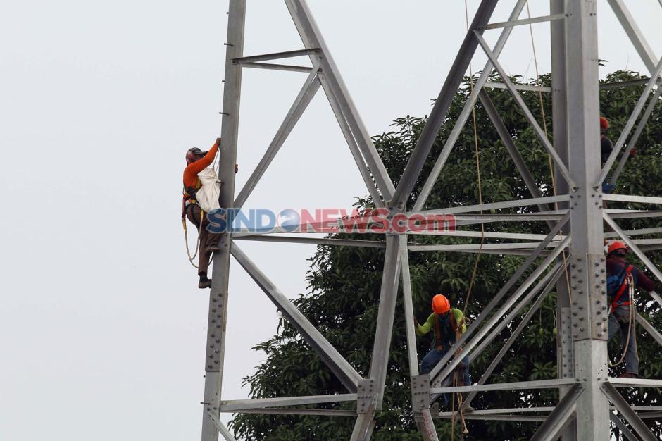Pengecekan Sutet Baru di Kawasan Tangerang-1